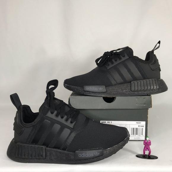 adidas Shoes   Nmd R1j Triple Black